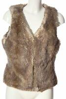 ESPRIT Kunstfellweste braun Casual-Look Damen Gr. DE 40 Weste Vest Fake Fur Vest