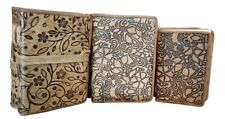 Leather Journal Diary Notebook Handmade Blank Travel Notepad Lot of 6