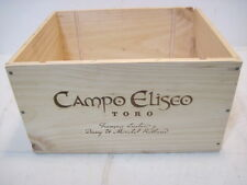 OLD WOOD-WOODEN CAMPO ELISEO TORO WINE CRATE BOX