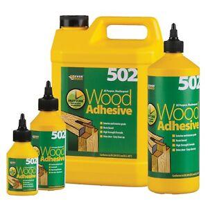 EVERBUILD 502 Wood Adhesive All Purpose, Weatherproof Glue, 75ml, 1l, 5l