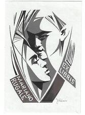 JOSEF WEISER: erotisches Exlibris für Mariano Rugale