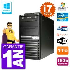 PC Acer Veriton M4630G MT i7-4770 RAM 16Go Disque 1To Graveur DVD Wifi W7