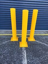 PAINTED STEEL SECURITY BOLLARD with Cap / Solid Protection
