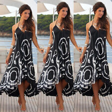 Women Summer Boho Chiffon Party Evening Beach Dresses Long Maxi Dress Sundress S
