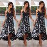 Women Summer Boho Chiffon Party Evening Beach Dresses Long Maxi Dress Sundress S