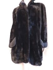 Manteau Fourrure AGNEAU NOIR   elevage / BLACK fur coat / vintage 40/42  M