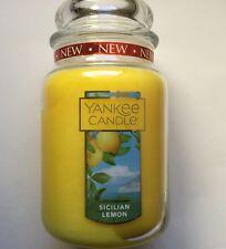 Yankee Candle SICILIAN LEMON 22  oz. LARGE JAR SPRING SCENT