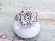 2.46CT ASSCHER CUT DIAMOND LUXURY WEDDING & ENGAGEMENT BRIDAL RING