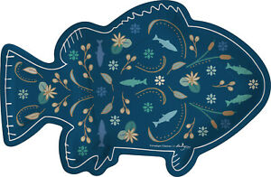 Happy Place Fish-Shaped Paper Lunch Plates 2Pks of 8 for 16 Plates
