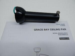 Grace Bay 52-in Matte Black LED Indoor Ceiling Fan BDB52MBK5LS Down Rod Only