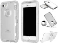 For Apple iPhone 6/7/8 Plus Case,Clear Shockproof[Clip Fit Otterbox Defender]