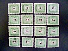 Hungary 1953 Sixteen Stamps Postage Due Issue Used - See Description & Images