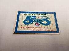 Winston-Salem Spirits 1989 Minor Baseball Pocket Schedule - Beef Master/Pepsi