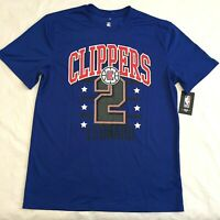 KAWHI LEONARD #2 Los Angeles LA Clippers NBA Jersey T-Shirt blue size Large NWT