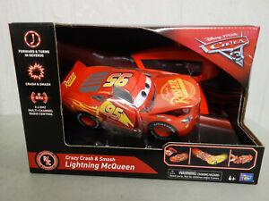 Disney Cars Crazy Crash & Smash Lightning McQueen Remote Control Car New