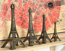 8cm Exquisite Retro Bronze Paris Eiffel Tower Famous Sculpture Home Decors 1pcs