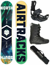 AIRTRACKS Set de Snowboard Nord Sud Wide + Fixation Master + Bottes + Sac / 152