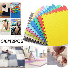 3/6/12X Soft Foam Sports Floor Mat Fitness Puzzle Carpet Play Room Exercise Gym