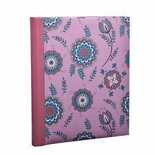 Large Colourful Flowers Pink Self Adhesive Photo Album 20/Sheet 40/Sides AL-9161
