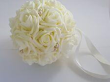 "5"" Flower Girl or Bridesmaid Bouquets, Wedding Pomander Ball"