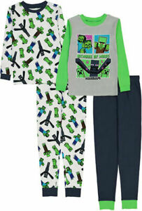 Minecraft Boys 4pc Pajama Pant Set Size 6 8 10 12
