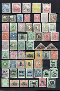 LIBERIA 1880-1904 58 STAMPS MLH/MNG
