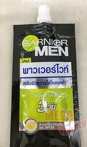 7 Ml. Garnier Men PowerWhite Whitening Serum Cream Oil Control Face Spot Bright