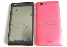 Case Fascia Housing Back Battery Cover Bezel Fits S.E Xperia J ST26i ST26 Pink
