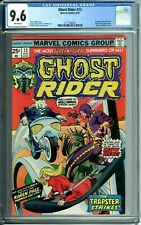 GHOST RIDER 13 CGC 9.6 WHITE PGS STATUE OF LIBERTY COVER KAREN PAGE 8/75 Marvel