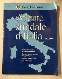 ATLANTE STRADALE D'ITALIA Touring Club Italiano 1998 Libro
