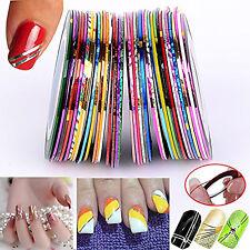 BF 32 couleurs mixtes fin ligne droite art ongles Bande autocollant Roll #3003a