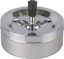 XXL Dreh-Aschenbecher chrom/silber metallic 14cm NEU/OVP
