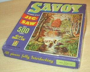 TOWER PRESS 'Savoy' - THE FOREST POOL - Vintage Jigsaw Puzzle OLD Complete