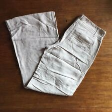 "Gap Women's Size 2 Light Grey Khaki Draw String BOHO Flare Pants 28"" x 30"""