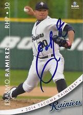 Erasmo Ramirez 2014 Tacoma Rainiers Signed Card