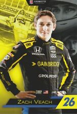 2019 Zach Veach Gainbridge Honda Dallara Indy Car postcard