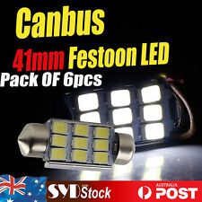 Canbus 41MM Interior Dome Map Door Courtesy License Plate Lights 5630SMD 9LED X6