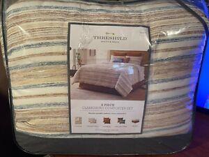 Queen 8pc Clarksburg Comforter Set Natural - Threshold fast free same day shippi