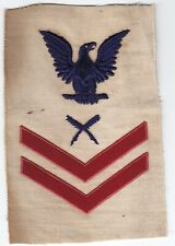 1905-1913 Pre-Ww1 White Usn - Us Navy Po2 Rate — Yeoman— Red Chevrons