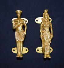 Brass Collection Egypt King Queen Door Handle Handmade Golden Finishing CA10