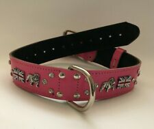 "REAL LEATHER ENGLISH/BRITISH BULLDOG COLLAR - 1"" 1/2 WIDE"