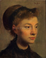 DEGAS EDGAR HEAD OF A YOUNG WOMAN ARTIST PAINTING OIL CANVAS REPRO WALL ART DECO