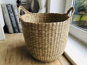 Moroccan Woven Seagrass Storage Basket
