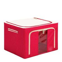 Large Storage Bins Boxes, Foldable Stackable Container Organizer Basket Set