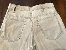 Grunge 1970s Levi's White Tab 646 Bell Bottom Corduroy Jeans 32-30 Talon 42