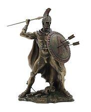 LEONIDAS Greek Spartan King Warrior Sculpture Statue Bronze Finish 8.2 inches