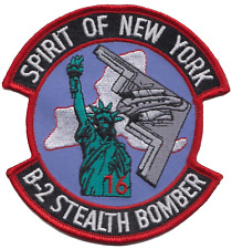 USAF B-2 Stealth Bomber Spirit of New York Embroidered Patch ** LAST FEW **