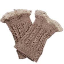 Knitting Warm Winter Wool Lace Boot Toppers Cuffs Accessories 1 Pair Fashion T3