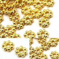 4mm Gold Daisy Spacer Bali Shiny Plated Flower Beads Jewelry Bead Supplier