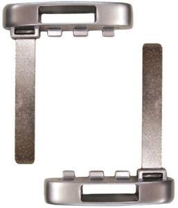 Pair GM Prox Smart Key Remote Keyless Emergency Insert Uncut Blade Blank 5912534